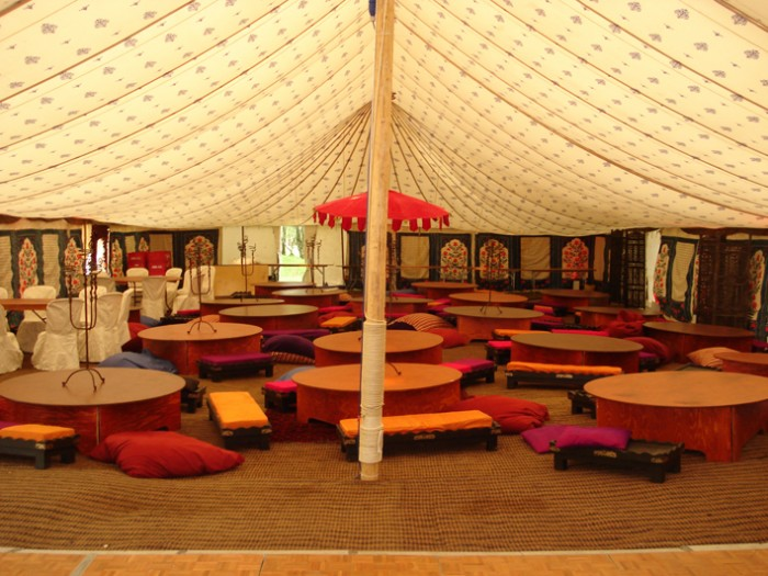 indian tent and marquee hire with block printed linings