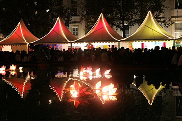 Marquee and tent lighting for parties, festivals weddings and events