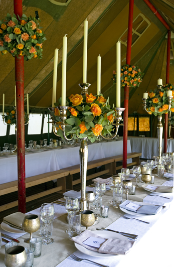 Genuine Vintage Military tent hire for parties, weddings and