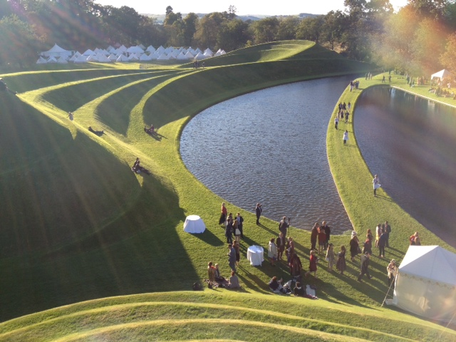 Wedding of Lily & Roger at Garden of Cosmic Speculation
